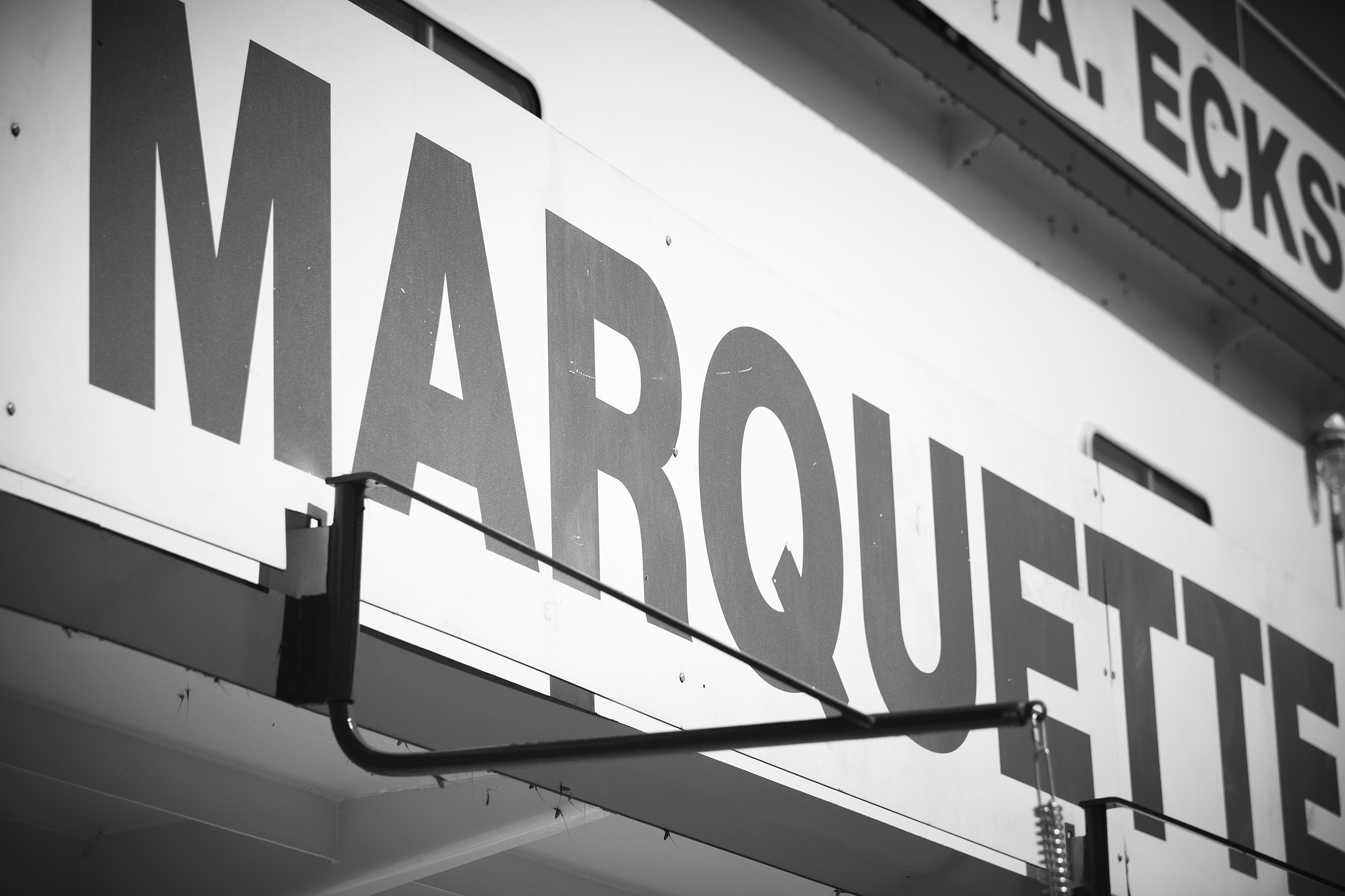 Marquette Transportation sign